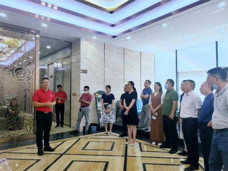 广东省装饰行业协会领导一行莅临新美集团参观考察交流